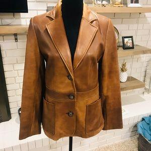 Vintage Banana Republic Leather Blazer, EUC, 10